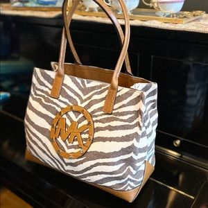Michael Kors Zebra Print Bag w/ Crocodile Leather